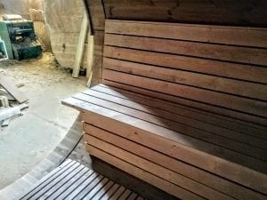 Outdoor Barrel Round Sauna 13