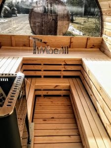 Outdoor Barrel Round Sauna 14 1