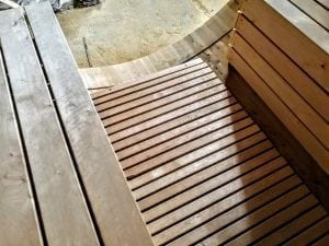 Outdoor Barrel Round Sauna 14