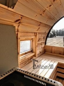 Outdoor Barrel Round Sauna 16 1