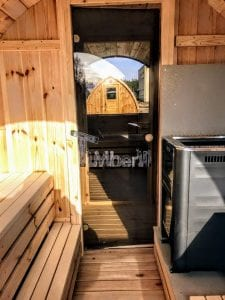 Outdoor Barrel Round Sauna 17 1