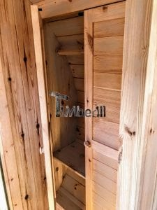 Outdoor Barrel Round Sauna 19 1
