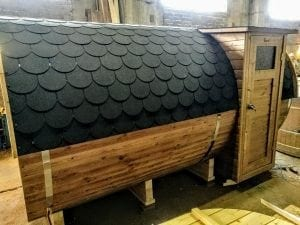 Outdoor Barrel Round Sauna 2 1
