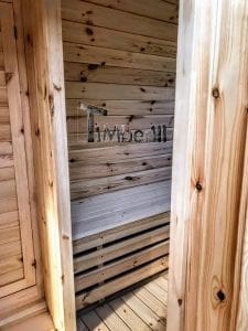 Outdoor Barrel Round Sauna 21 1