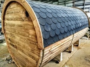 Outdoor Barrel Round Sauna 22