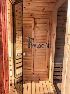 Outdoor Barrel Round Sauna 23 1