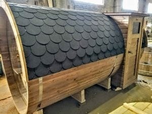 Outdoor Barrel Round Sauna 3 1
