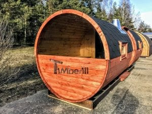 Outdoor Barrel Round Sauna 3 2