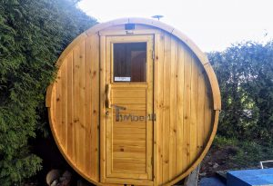 Outdoor Barrel Round Sauna 3 5