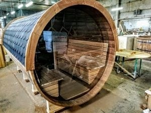Outdoor Barrel Round Sauna 4 1