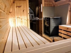 Outdoor Barrel Round Sauna 5 2