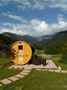 Outdoor Barrel Round Sauna 5