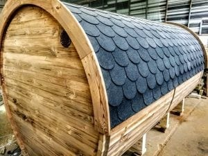 Outdoor Barrel Round Sauna 6 1