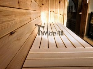 Outdoor Barrel Round Sauna 6 2