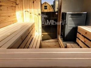 Outdoor Barrel Round Sauna 7 1