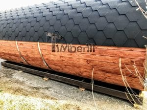 Outdoor Barrel Round Sauna 9 1