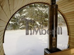 Outdoor garden sauna with full panoramic glass 23