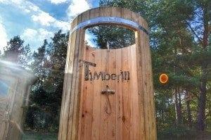 Outdoor wooden shower 17