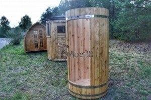 Outdoor wooden shower 5