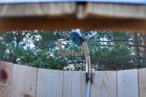 Outdoor wooden shower 8