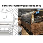 Panoramic window glass area 50