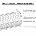 Pre assembled – factory built model for a barrel sauna