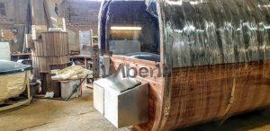 Rectangular barrel wooden outdoor sauna 1