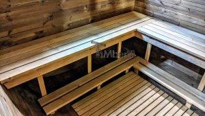 Rectangular barrel wooden outdoor sauna 10 1