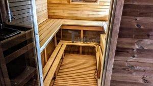 Rectangular barrel wooden outdoor sauna 15 1