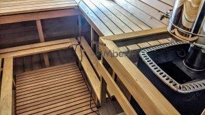 Rectangular barrel wooden outdoor sauna 18 1
