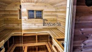 Rectangular barrel wooden outdoor sauna 24 1