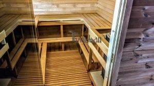 Rectangular barrel wooden outdoor sauna 25 1