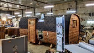 Rectangular barrel wooden outdoor sauna 29 1
