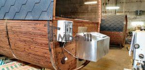 Rectangular barrel wooden outdoor sauna 5