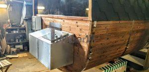 Rectangular barrel wooden outdoor sauna 6