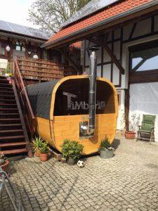 Rectangular barrel wooden sauna 1