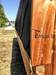 Rectangular wooden outdoor sauna 10 1