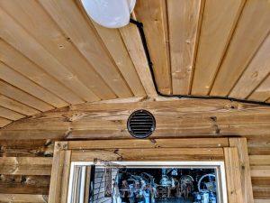 Rectangular wooden outdoor sauna 12 2