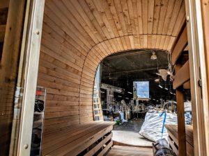 Rectangular wooden outdoor sauna 13 2