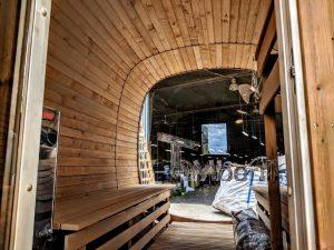 Rectangular wooden outdoor sauna 14 2