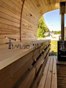Rectangular wooden outdoor sauna 15 1