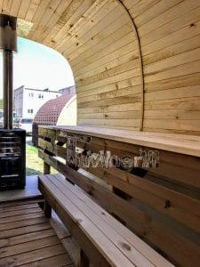 Rectangular wooden outdoor sauna 18 1