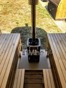 Rectangular wooden outdoor sauna 19 1