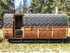 Rectangular wooden outdoor sauna 2 1