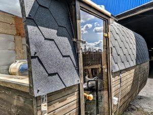 Rectangular wooden outdoor sauna 2 2