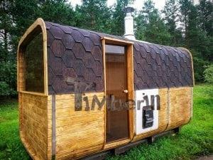 Rectangular wooden outdoor sauna 2
