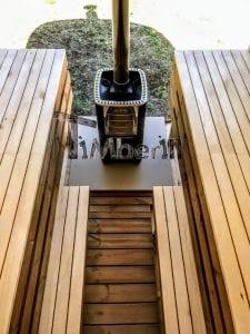 Rectangular wooden outdoor sauna 20 1