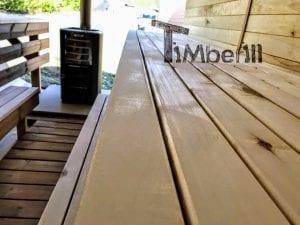 Rectangular wooden outdoor sauna 22 1