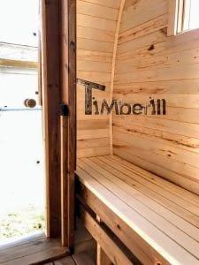 Rectangular wooden outdoor sauna 25 1