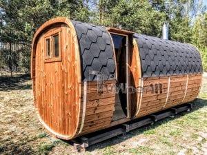 Rectangular wooden outdoor sauna 28 1